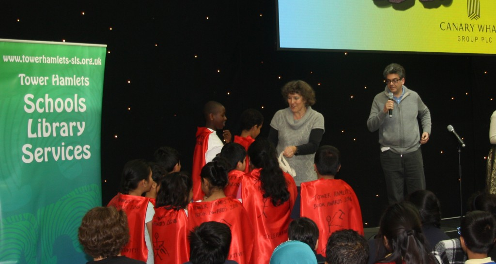Pupils from Cyril Jackson school collect their prizes