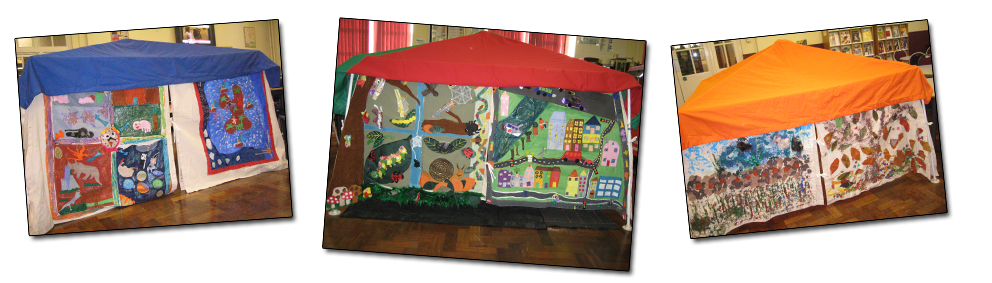 Story tent banner